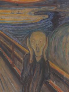 Pintura 'El Grito' de Edvard Munch en el Museo Nacional de Noruega.