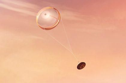 El paracaídas del Perseverance escondía un mensaje.