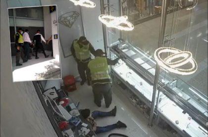 Imágenes de las capturas y del momento en que ladrones vestidos de policías roban la joyería en Barranquilla