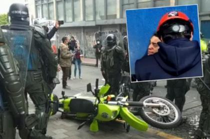 Disturbios donde un joven perdió uno de sus ojos habría empezado por la provocación de un policía en moto, en Bogotá