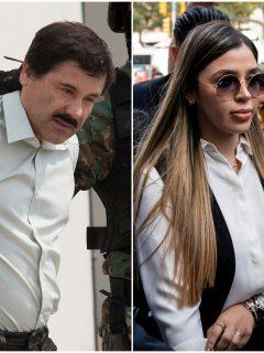 Fotomontaje de 'el Chapo' y Emma Coronel, a propósito de qué pasará con sus gemelas