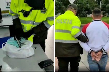Hombre capturado por esconder pistola en bolsa de pan