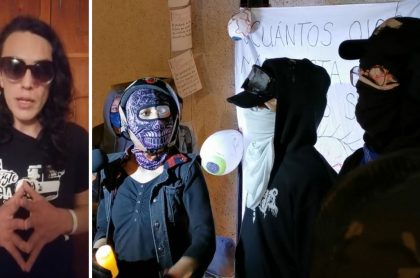 ¿Por qué estudiantes se cambian ropa en las protestas? Escudos azules explican