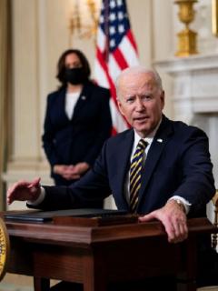 El presidente Joe Biden ordenó bombardeo en Siria tras cumplir su primer mes en el poder.