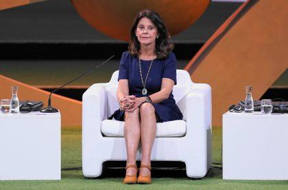 Marta Lucía Ramírez, vicepresidenta de Colombia, criticada por una foto.