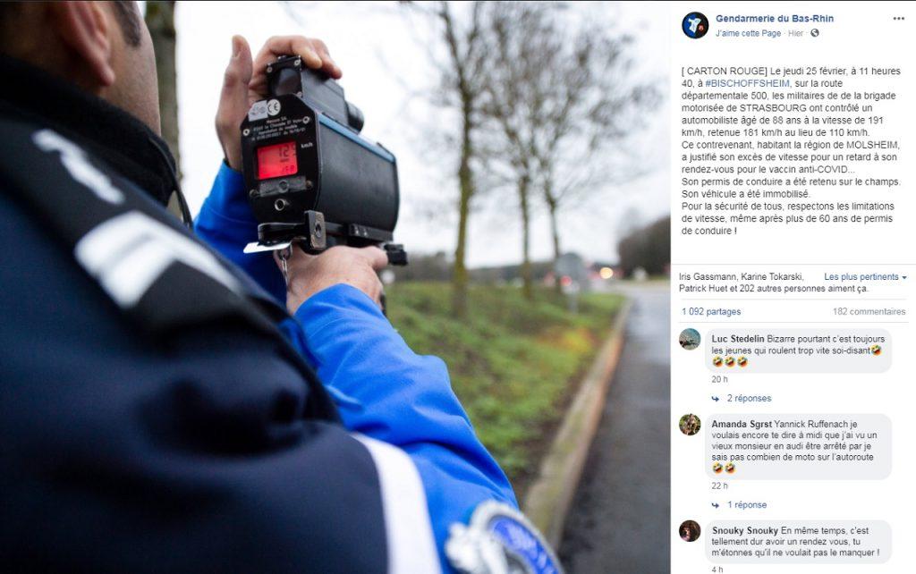 Facebook - Gendarmerie du Bas-Rhin