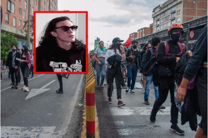 Gareth Sella cuenta cómo fue el golpe de la Policía en el que perdió el ojo durante protestas en Bogotá.