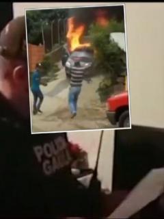 Imagen de cuando el Gaula de la Policía captura a alias 'Tavo', presunto cabecilla de banda 'Betania' en Medellín