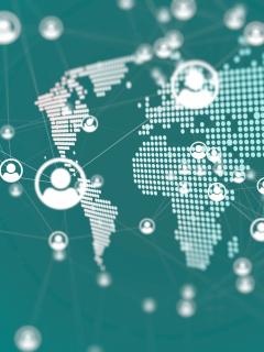 Imagen que ilustra la distribución de apellidos en el mundo