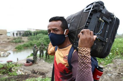 Migrante venezolano en Colombia.