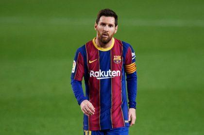 Foto de Lionel Messi ilustra nota sobre los partidos claves para el Barcelona F.C.