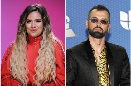 Fotomontaje de KArol G y Mike Bahía, a propósito de que estuvieron en 'Factor X'