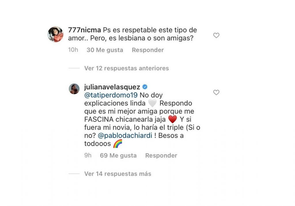 Captura de pantalla @Julianavelasquez en Instagram