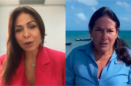 Discusión entre Diana Calderón y Susana Correa en entrevista en vivo