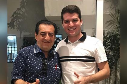 Foto de Jorge Oñate y Jorge Antonio Oñate Dangond, a propósito de que seguirá el legado del fallecito cantante