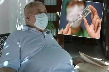 Bernardino Sanabria, un pensionado de 80 años que vive en Barranquilla y que fue citado para vacunarlo en Bogotá
