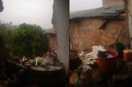 Casa de humilde familia en Betulia quedó destruida luego del fuerte temblor de 5.1 grados que sacudió este lunes a Antioquia.