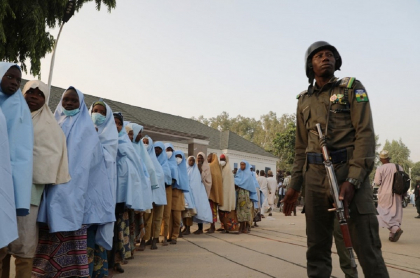 Las casi 300 niñas habían sido plagiadas de un colegio el viernes pasado.