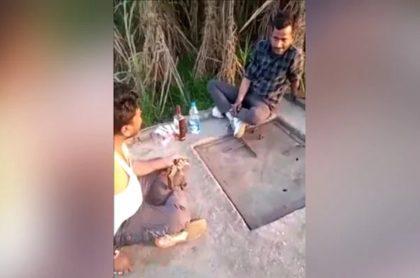 Captura de pantalla de video en el que joven que grababa recibe disparo de su tío y muere