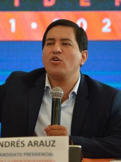 Foto de Andrés Arauz, candidato a la presidencia de Ecuador