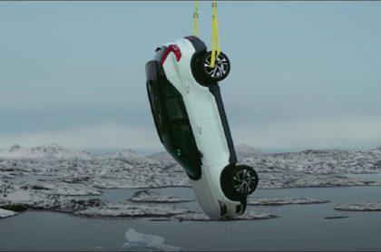 Prueba de ensayo de Volvo, compañía que anuncia que a partir de 2030 solo fabricará carros eléctricos