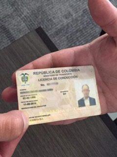 Licencia de conducción en Colombia.