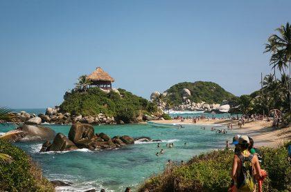 Playa Cabo San Juan del Parque Tayrona, donde murió un turista bogotano