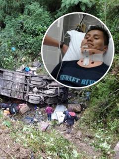 Imagen de accidente en Cochabamba, Bolivia, del que se salvó un Erwin Tumiri, que sobrevivió a la tragedia de Chapecoense