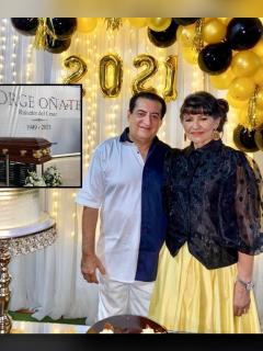 Fotomontaje de Jorge Oñate y Nancy Zuleta, a propósito de robo durante sus sepelio