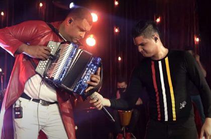 Rolando Ochoa y Elder Dayán Díaz, que recientemente terminaron su relación musical.
