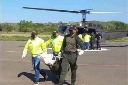 Imagen del operativo en Montes de María, en donde la Policía reportó la muerte de tres presuntos integrantes del 'Clan del Golfo'