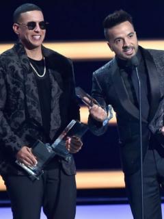 Daddy Yankee y Luis Fonsi, cantantes puertorriqueños.