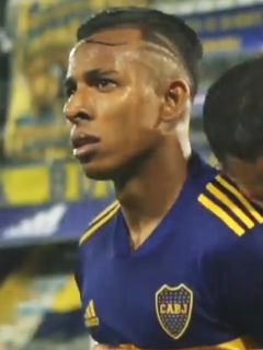 Sebastián Villa respondió a las críticas a su baile gol de Boca Juniors. Imagen de referencia del jugador colombiano