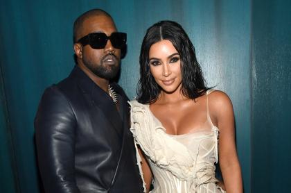 Foto de Kanye West y Kim Kardashian