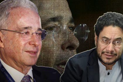 Álvaro Uribe e Iván Cepeda, fotomontaje que ilustra nota sobre caso del expresidente en la Fiscalía y otros que lo han puesto en la mira de las autoridades y enemigos (fotomontaje Pulzo).