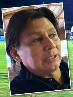 Eduardo Pimentel se queja de arbitraje del Chicó-Millonarios en Liga Betplay. Fotomontaje: Pulzo.