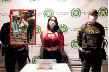 Venezolana atacó a la pareja con su amante mientras estaban en el Parque de los Novios en Santa Marta.