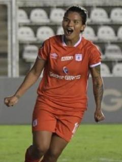 Jugadoras del América celebrando gol en la Libertadores Femenina