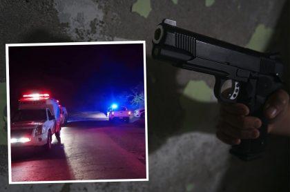 Vía Ocaña-Ábrego, Norte de Santander, donde una masacre dejó 5 personas muertas / Imagen de referencia de alguien sosteniendo un arma negra.