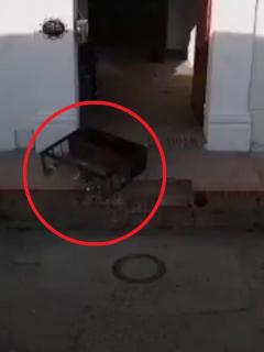 Capturas de pantalla del video del supuesto fantasma en Mompox. Bolívar