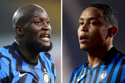 Foto de Romelu Lukaku y Luis Muriel ilustra nota sobre Inter de Milán vs. Atalanta (fotomontaje Pulzo)