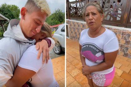 La liendra y su mamá, quien se ganó una rifa con el número que estaba en el plátano con el que muchos en Chocó también ganaron chance