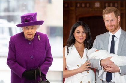 Fotomontaje de Reina Isabel, Meghan Markle, el príncipe Harry y Archie Harrison, a propósito de racismo
