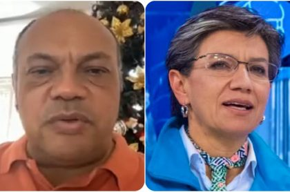 Luis Alonso Colmenares y Claudia López, muy activos en redes durante marchas del Día de la Mujer.
