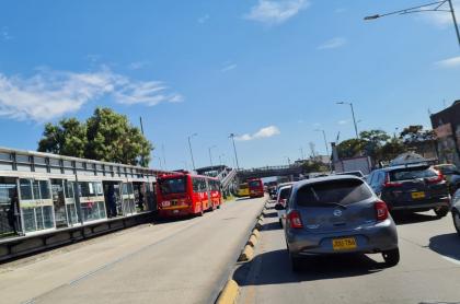 Imagen del trancón en carrera 30 de Bogotá que tiene a conductores desesperados