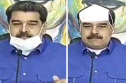 """Nicolás Maduro les pidió en plena alocución a los venezolanos que usen el tapabocas hasta la """"pantorrilla""""."""