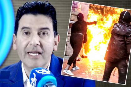 Néstor Morales critica disturbios en día de la mujer: a otras les tocó limpiar. Imagen de referencia del periodista.