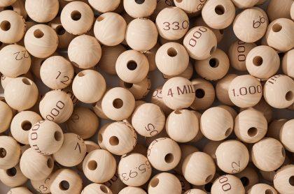 Balotas ilustran nota sobre resultados de las loterías de Cundinamarca y del Tolima de marzo 8.