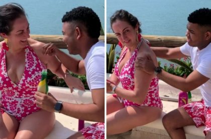 María Fernanda Cabal y Miguel Polo Polo disfrutando su viaje a Santa Marta