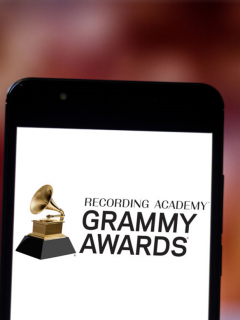 Foto del logo de los premios Grammy ilustra nota sobre cómo funcionará 'Grammy Debates with Watson